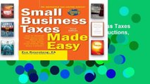 D.O.W.N.L.O.A.D [P.D.F] Small Business Taxes Made Easy: How to Increase Your Deductions, Reduce