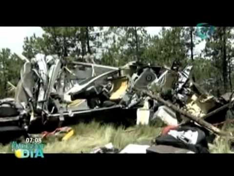Perecen tres personas al caer helicóptero en Edomex
