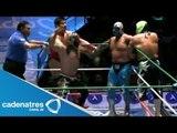 Titán, Ángel de Oro y Stuka Jr. vs Misterioso, Sangre Azteca y Bobby Zavala 17/08/13