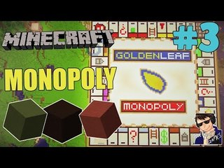 Minecraft Monopoly Gameplay - Let's Play #3 (Buildings and mortgages!!!) - [60 FPS]