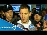 Lionel Messi llega a Argentina para prepararse para el Mundial Brasil 2014