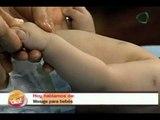 ¡Nuestro Día! Masaje para bebés