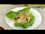 Receta de ensalada con pasta y aderezo de cacahuate. Recetas de comida fáciles y rápidas