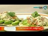 Receta de tostadas de jaiba. Recetas de comida fáciles y rápidas. Comida mexicana