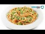 Receta de spaghetti a la carbonara con chícharos. Receta comida italiana / Receta de pastas