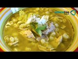 Receta de sopa de maíz pozolero con verdes y chayotes. Receta de pozole / Receta de maíz pozolero