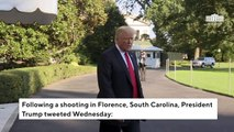 Trump Tweets 'Thoughts And Prayers' After Shooting In Florence, South Carolina