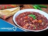 Receta para preparar frijoles charros. Receta de frijoles / Comida mexicana