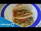 Receta para preparar tacos de lenteja y especias. Receta de tacos / Comida mexicana