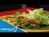 Carnitas de atún con salsa borracha / Receta para preparar carnitas