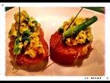Receta de Huevos con espárragos y chícharos / Cómo preparar huevos con espárragos
