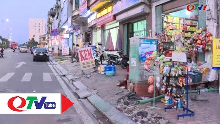 Hạ Long- Vỉa hè, lòng đường nhiều nơi vẫn bị lấn chiếm - QTV