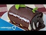 Receta para preparar rollo de chocolate. Receta de postres / Postres fáciles y rápidos
