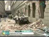 Impresionantes imagenes de explosión en Praga causa heridas a miles de persona / explosion in Praga