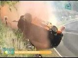 Impresionante accidente  en pista de Brasil // Accidente de Marco Gómez