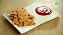 Homemade Masala Chapati Nachos In Telugu   How To Make Nacho Chips With Chapati   Snack Recipe