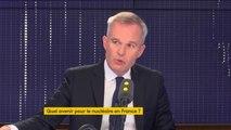"""""""À une époque, on a dit qu'on fermerait Fessenheim quand on ouvrirait l'EPR de Flamanville. Aujourd'hui, on est obligés d'envisager de ne pas faire les deux opérations en même temps"""", déclare le ministre de l'Ecologie François de Rugy."""