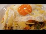 Receta para preparar risotto primavera con huevos fritos. Receta de rissoto / Huevos fritos