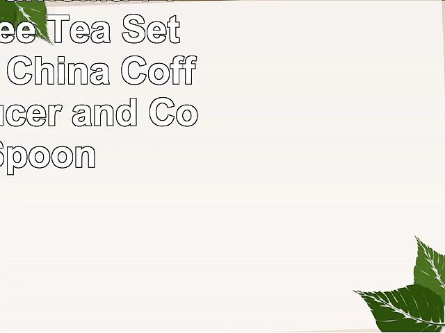 Artvigor Camellia Printed Coffee  Tea Set New Bone China Coffee Cup Saucer and Coffee