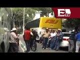 Campesinos bloquean circulación en Eje 7 Sur frente a la sede de Sagarpa/ Comunidad