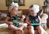 Twins Have Very Different Reactions to Phone Game