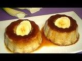Receta para preparar pudding de plátano con caramelos. Receta de pudding / Pudding rápido y fácil