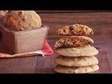 Galletas de avena, plátano y chispas de chocolate / Oatmeal cookies, banana and chocolate chips