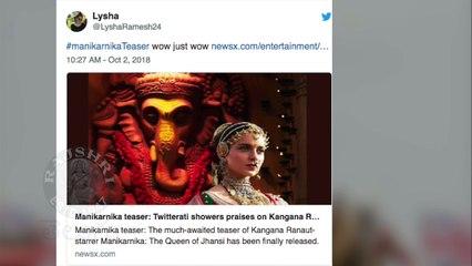 Director Krish Jagarlamudi New Movie Manikarnika Teaser Success | Fans Awesome Tweets