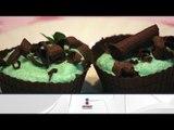 Receta de pastel de brownie de chocolate con menta / Cake chocolate brownie with mint
