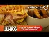 Receta de sándwich waffleados con jamón y queso / Waffle sandwich with ham and cheese