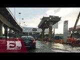 Carriles centrales de Periférico norte cerrados por inundación / Paola Virrueta