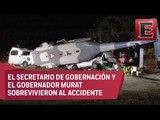 Desplome de helicóptero en Oaxaca deja 13 muertos y varios heridos