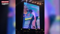 Enrique Iglesias embrasse une fan sur scène en plein concert ! (vidéo)
