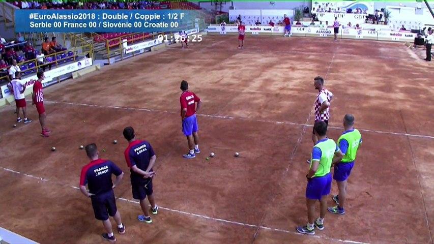 Demi-finales double, Euro masculin, Alassio 2018
