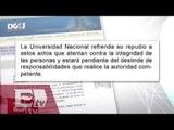 UNAM repudia actos vandálicos en estación del metrobús / Excélsior informa