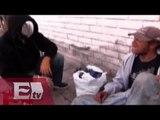 Enmascarado pide atención para los más necesitados