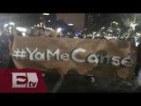 Manifestación en solidaridad a los normalistas en la ciudad de México / Excélsior en la media