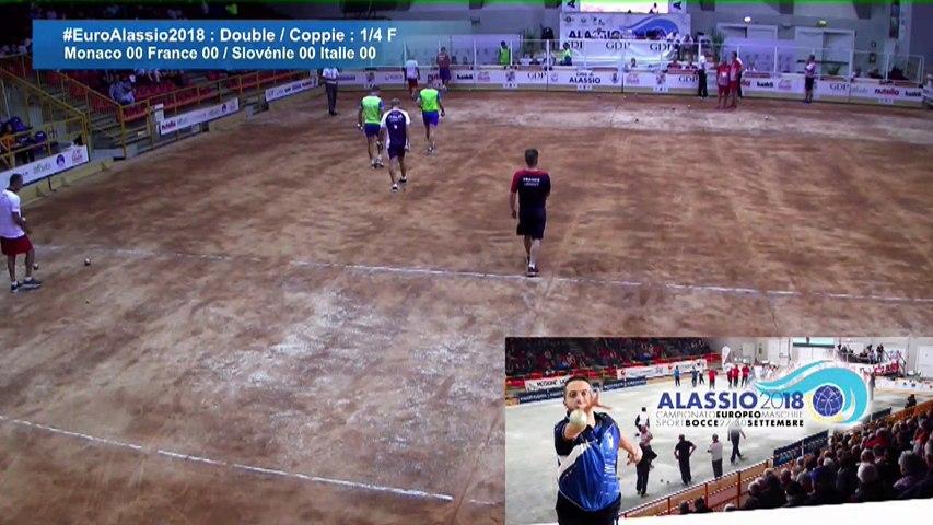 Quarts de finale double, Euro Masculin, Alassio 2018