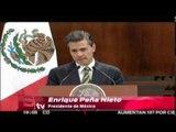 Peña Nieto condena la violencia y los actos vandálicos por Ayotzinapa / Excélsior Informa