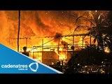 Fuego consume restaurante en playa Tamarindo,  Acapulco