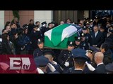 Cientos despiden en Nueva York a uno de los policías asesinados/ Excélsior en la media