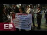 Realizan mitin en el Zócalo a 4 meses de la desaparición de normalistas