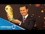 Peña Nieto confía en que el Tricolor gane el Mundial 2014; Copa, de gira por México