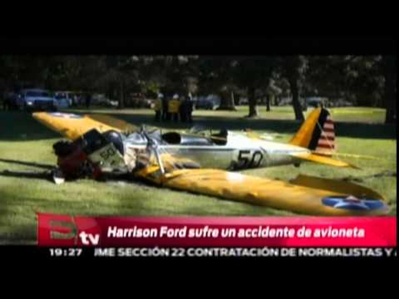 Harrison Ford sufre un accidente de avioneta /  Harrison Ford injured in plane crash