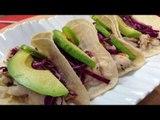 Tacos de pescado con tequila y limón