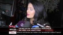 """Lifestyle Salma Hayek fue nombrada como """"Personaje del Año"""" por la revista Vanity Fair La revista Vanity Fair eligió a Salma Hayek como el """"Personaje del Año"""", por su gran trabajo como actriz, productora y activista."""