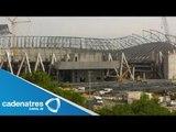 Se cae viga del estadio de Los Rayados de Monterrey