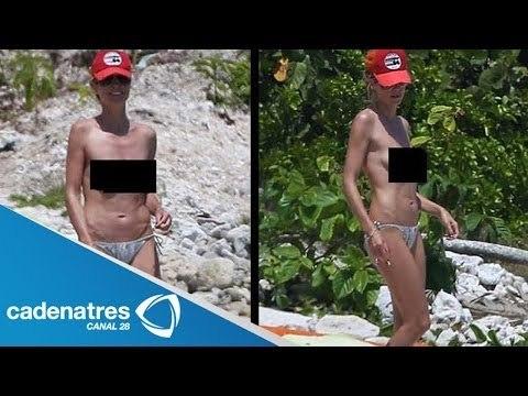 Modelo Heidi Klum enseña de más en playas de México / Model Heidi Klum teaches more on the beach