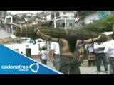 Procesión de los Cristos recorre las calles de Taxco, Guerrero