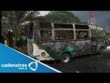Mueren quemados 33 niños en incendio de autobús en Bogota, Colombia